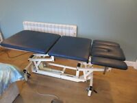 Akron 3 section electric/hydraulic therapy couch