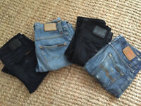 Range of Nudie jeans for sale