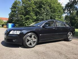 Audi A8 W12 6.0 Saloon Quattro 4dr (LWB) - Black with Cream Leather