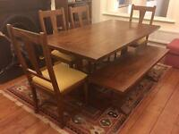 Beautiful John Lewis 'Monastery' Dining Table, 4 Chairs & Bench