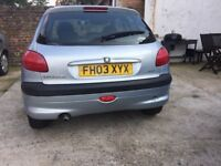 Peugeot 206 hatchback 1,1 petrol 2003 , 110000 mil genuine . MOT till end of year,