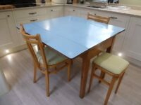 Retro 1960s Table , 2 chairs and 2 stools