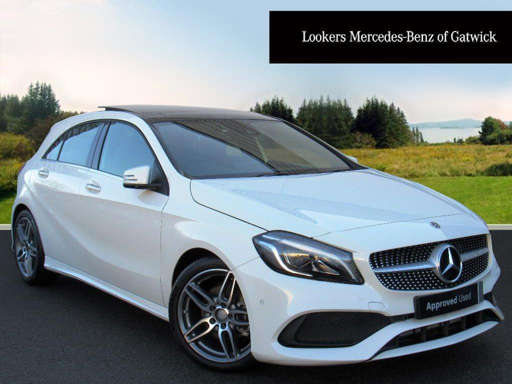 mercedes benz a class a 180 amg line premium plus white 2017 12 08 in crawley west sussex. Black Bedroom Furniture Sets. Home Design Ideas
