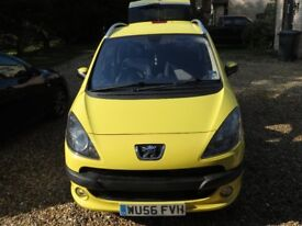 Peugeot 1007 Sport, Yellow Very Low Mileage MOT Until 30 SEP 18