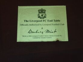 Liverpool Football Club glass top occasional table