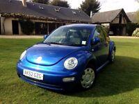 VOLKSWAGEN BEETLE BLUE 1.6L | 2002 | 40 000 miles