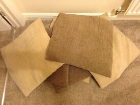 Marks and Spencer's cream and brown cushions