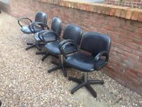 X4 - Air/gas salon barbers chairs . 2 have been recovered . All in working order, adjustable £20