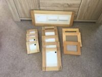 Set of wooden picture frames from Next..