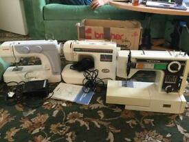 3 sewing machines for spare orparts
