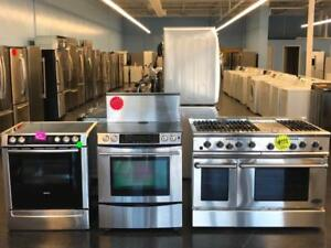 GRAND OPENING SALE FRIDGES & STOVES ALL SIZES STAINLESS STEEL FREE DELIVERY
