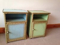 Lloyd loom style bedside tables