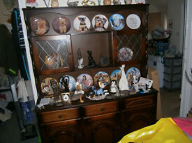 solid wood display cabinet and welsh dresser