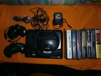 FOR SALE Sega magedrive mk1 with 2 pad and 9 games