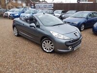 Peugeot 207 CC 1.6 THP GT 2dr, 2 FORMER KEEPERS. 1 YEAR MOT. HPI CLEAR. CONVERTIBLE. P/X WELCOME