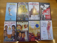 VHS video bundle - 13 tapes (film, comedy, natural history, fitness)