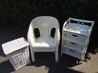 White whicker furniture