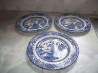 Blue Oriental Style Plates
