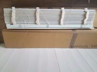 Soft ivory wood effect blinds