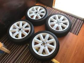 Set of Brand New Mini Cooper S Alloys and Tyres(Fits Mini One, Cooper)
