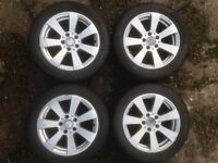 Mercedes c class 16 inch alloys and winter tyres
