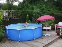 Garden pool 10ftby 30ins and chlorinator £125.00