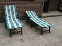2 x Garden Lounger's with Covers
