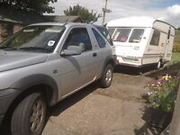 land rover and caravan for sale