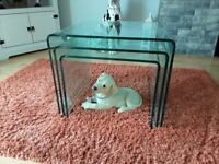 IMMACULATE GLASS NEST OF TABLES