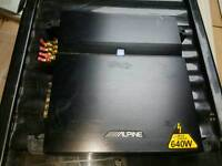 Alpine Amp 640w 4 channel for sub/speakers cheap
