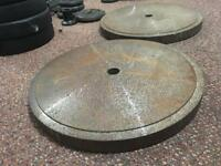 2x 27kg Solid Metal Weights Plates. Can Deliver