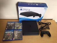 Ps4 Slim 500 GB with 4 Games and with Box