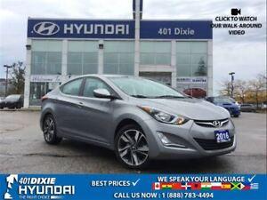2016 Hyundai Elantra GLS|SUNROOF|ALLOYS|BACK-UP CAM|BLUETOOTH