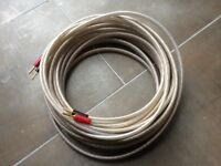 QED Ruby Anniversary Evolution speaker cable - 14 metre length with 4mm plugs
