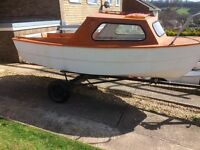 14ft fishing boat with trailer,