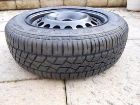 Steel Wheel and as new tyre 4stud 195.60.R15
