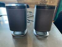 Pair of Sonos Play 1 Speakers with stands