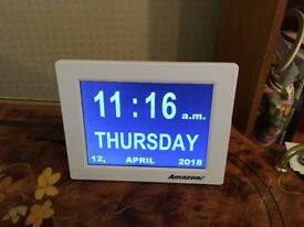 Digital clock to help dementia.
