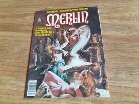 Merlin marvel comic no 22 - 1980