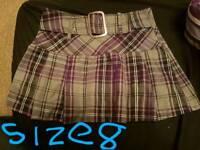 Ladies size 8 purple skirt
