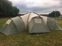 8 Man Tent - 3 Bedrooms - Couple fixable faults - Grab a bargain