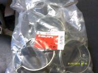 HILTI MP-MS 117J SPRINKLER PIPE RINGS / CLAMPS 114-119mm x 20 JOB LOT