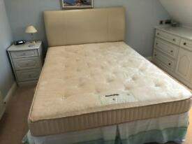 King Size Bed and Leather Headboard all in a very good condition