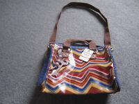 Fossil Key Per Satchel Bag - Multi Stripe