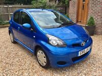 *Quick sale discount* Toyota Aygo Blue 5 Door Low Milage FSH cheap to run car
