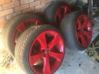 Vw transporter t5 20inch alloy wheels, bmw x5 alloys.. 5-120