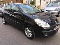 Renault Clio 5dr Black mileage 47k 2008 1.2 petrol