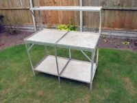 Aluminium and Stainless Steel Greenhouse Staging, 4ft x 2ft, 3-tier, Clean and Tidy, 2 Available