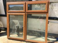 Golden oak effect double glazed window used