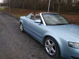 AUDI A4 1.8T SPORT CONVERTIBLE 1/2 LEATHER INTERIOR MOT 3/19 PART SERVICE HISTORY ELECTRIC ROOF
